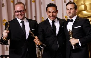 Daniel Lindsay, 3rd from left, is a Rockford native and Oscar winner