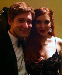 Lindsay Lohan & I At The 'Liz & Dick' Premier Dinner